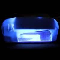 1PC/Lot, Free Shipping New Fashion White Two Plug Style Nail Art Gel UV Lamp Light Dryer (EU Plug)  AY600082