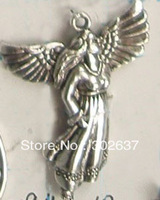 FREE SHIPPING 60PCS Tibetan silver cute angel charm A16191