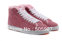 hotsale!fashion new womens winter boots branded ladys warm shoes casual boots high tops blazer with fur free shipping!