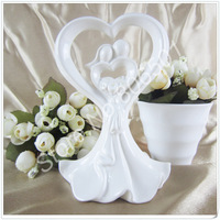 "Quality Guarantee with LOW Price + Free Shipping, 2 pcs/lot  ""Love's Embrace"" Cake Topper"