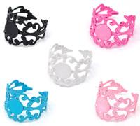 Free shipping 20 Mixed Adjustable Filigree Cabochon Ring Base Blank Settings US8 Jewelry Make