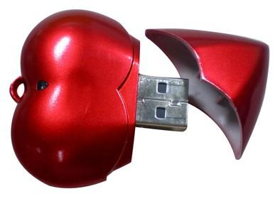 Free Laser Logo 1GB 2GB 4GB 8GB 16GB Heart USB Flash Stick Free Shipping(China (Mainland))