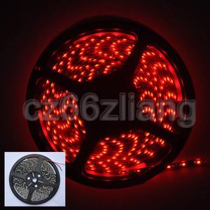Освещения для сцены 3528 Waterproof Red 5M Black PCB IP65 SMD Flexible 300LED Strip Light 60LED M