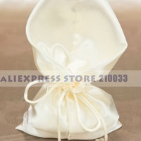 Simply Ivory Silk Wedding Favor Pouches (Set of 12) Favors Candy Gifts Chocolate Boxes Free Shipping Wedding Party Stuff SALE