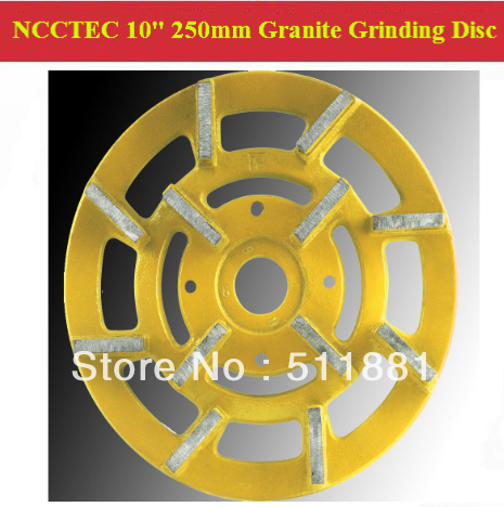 [2nd step] 10'' Metal Bond Diamond Granite Slabs Grinding Disc | 250mm grit 200# granite abrasive wheel | 12 segments iron base(China (Mainland))