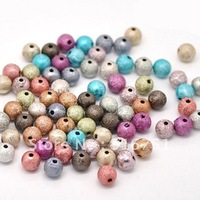 Free Shipping 300 Pcs Mixed Multicolor Stardust Acrylic Spacer Beads 8mm (W01914 X 1)