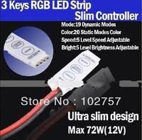 MIni LED 12V 72W  24 144w 3 Key 19 Dynamic Modes RGB LED Strip Slim Contro Controller for SMD 3528  5050  5630 LED Strip