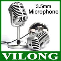 2lot/pcs New Microphone Stereo Laptop, Retro Classic Computer Microphone, PC Microphone Personalized wholesale