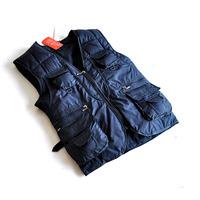 Зимние мужские с капюшоном жилет теплый и уютный любителей хлопка жилет для мужчины и женщины вниз жилет черный/синий/красный s-xxl vt-044
