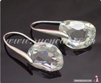 Fashion Korea Star Pea Princess Crystal Earrings Elegant Ladies Drop Earrings Wholesale 3Pairs/Lot