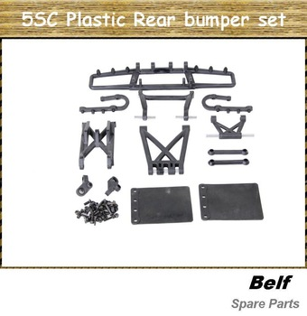 1:5 RC CAR, parts baja,5SC plastic Rear  bumper set with free shipping