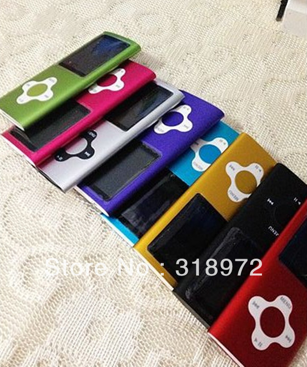 Portable 100pcs 8GB 4th Gen plum blossom & cross shape button mp4 player build in speaker Free shipping full set package(China (Mainland))
