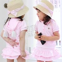 2013  Girl Dress summer wings girls clothing baby casual set tz-0342 (CC019N005)