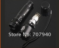 Free shipping, CREE Q5 LED 300LM 3-Modes 18650 Rechargeable Flashlight Torch with AC Charger, LED Flashlight