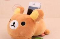 2PCS Kawaii Rilakkuma BEAR Plush Stuffed Toy DOLL ; Mobile Cell Phone Holder Case Car Stand Holders Pouch Bag ; Phone Rack Pouch