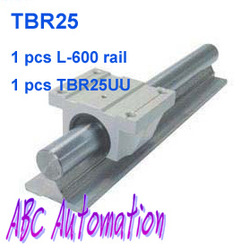 1pcs TBR25 -L600mm Support Linear rails shaft guide + 1pcs TBR25UU Linear Ball Bearing pillow blocks Slide Unit(China (Mainland))