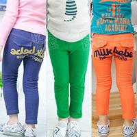 2014 autumn candy color letter male girls clothing baby trousers pencil pants kz-0046 (CC019KZ0046)