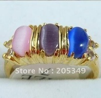 Fashion jewelry 18K Gold Plated Mutilcolor Opal Ring