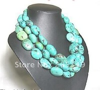 "Fashion 60"" Turquoise Necklace"