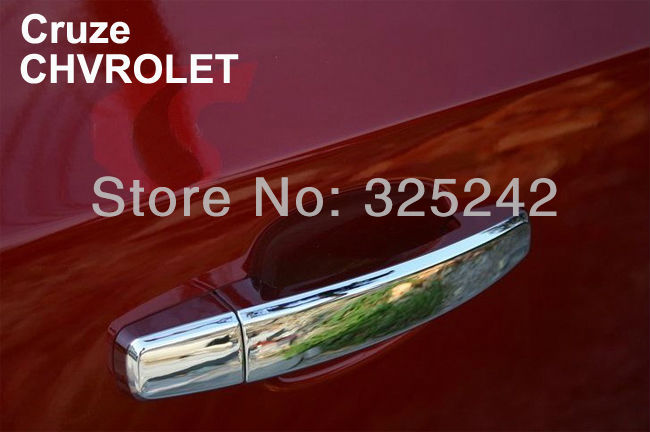 New Chrome Door Handle Covers, car sticker for CHVROLET Cruze, Protect your car door handles and Let your car become brilliant !(China (Mainland))