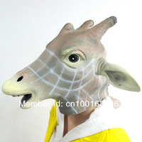 Big Discount Free Shipping Creepy Giraffe Mask Head Halloween Mask, Cosplay Animal Mask