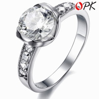 OPK JEWELRY hot selling women's Jewelry  stainless steel  ring luxury design big crystal inlaid top quality size 5/6/7/8/9  3261
