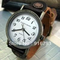 Наручные часы 2013 Elevens Handmade Cowhide Digital Watch Handmade Table Mens And Ladies Leather Watch