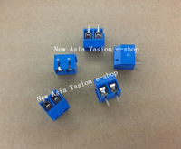 Free shipping 50pcs 250V 16A 2 Pin Screw Terminal Block Connector 5mm Pitch 5.08mm