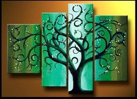 Huge modern abstract wall art painting the Lucky Tree ( frameless )