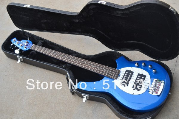 Free Shipping Newest Light Luxury 5 strings bass music stingRay electric bass guitar free shipping Bass Guitar WITH CASE BLUE(China (Mainland))