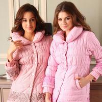 Sleepwear winter women's thickening coral fleece cotton-padded set casual lounge m11698