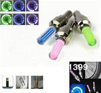 20pcs/lot Drop Shipping free shipping 5 color LED Flash Tyre Wheel Valve Cap Light ,LED Wheel Light