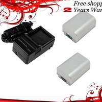 New 680mAh 2x Battery+Charger for NP-FP50