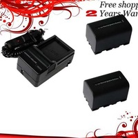 New 2400mAh 2x Battery+Charger for NP-FS21