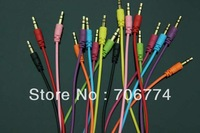 Wholesale Cheap 3.5mm Male to Male Stereo Aux Audio Cable for iPhone iPod MP3,200pcs/lot Free DHL