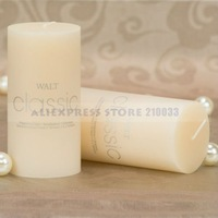 Vanilla Scented Ivory Pillar Candle for Wedding Decoration Party Favors Gifts Stuff Supplies Wholesale Free Shipping