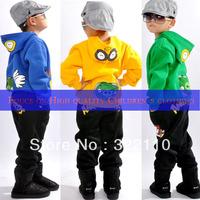 Baby cloth High quality Cartoon clothing Tracksuit Leisure Costume 2 piece suit 100% cotton Kids suits More colors suit
