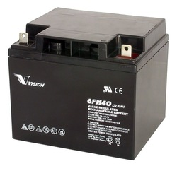 Sealed Lead Acid battery 12V 40Ah Deep Cycle Battery VISION 6FM40D(China (Mainland))