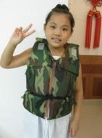 Camouflage child life vest life vest beach