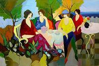 Itzchak Tarkay Femme Oil Painting hand-paint Repro, four women