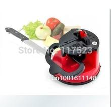 Free Shipping Home kitchen tungsten steel knife sharpener with a sucker(China (Mainland))