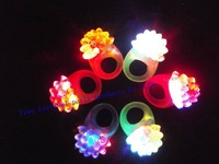 free shipping  led Blinking light up soft rubber strawberry shaped  finger ring china supplier