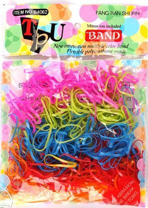 Whlesale 1000pcs Rubber Hairband Rope Ponytail Holder Elastic Hair Band Ties Braids Plaits Black Colorful(China (Mainland))