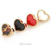 14Pairs Hot Sale Fashion Korean Style Cute Enamel Heart Stud Earrings color to pick 60008/60012/60013/60014