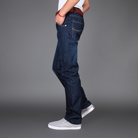 Autumn and winter straight  plus size jeans male loose casual plus size trousers fat pants trousers 46 available