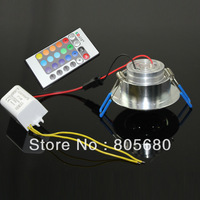 FREE SHIPPING  hot selling AC85~265V 3W RGB Led Ceiling Lamp