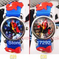 2pcs New Blue Spider-Man Children's watch Birthday Party Xmas gift  C29/C30
