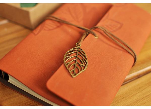 かわいい☆shop--open Vintage-leaf-diary-book-with-nice-package-Paper-notebooks-Notepad-Journal-diary-kawaii-stationery-Free-shipping