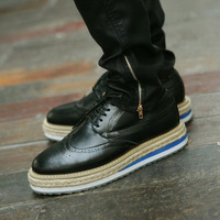 Fashion vintage platform increased men's fashion shoes male 4.5cm