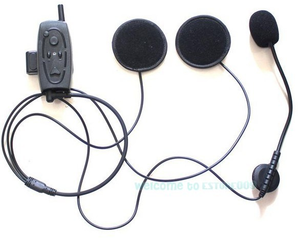 Free Shipping!!Bluetooth Motorcycle Motorbike Helmet Intercom Headset Up 500M for 3 Riders FM(China (Mainland))